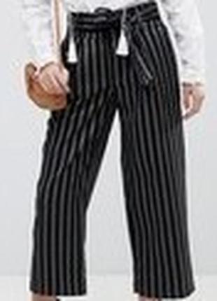 Трендовые брюки в полоску от  new look