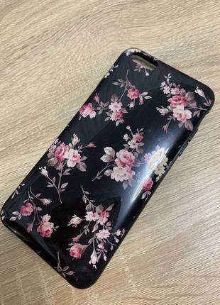 Чехол в цветочный принт на айфоне 6 плюс/ 6s plus