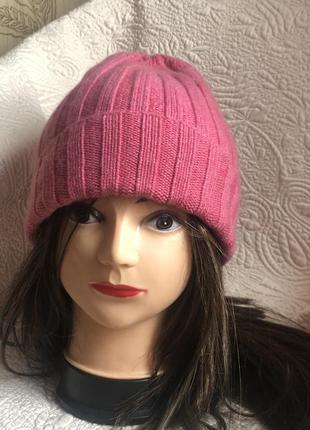 Кашемировая шапка шапочка бини, натуральный кашемир,