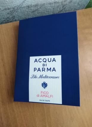Acqua di parma blu mediterraneo-fico di amalfi ниша, оригинал, духи пробник