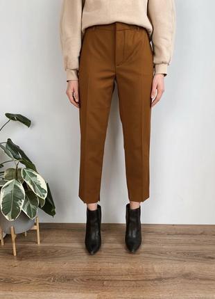 Гірчичні брюки zara
