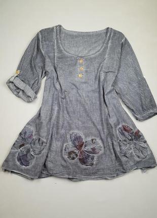 Блуза натуральная большого размера италия
