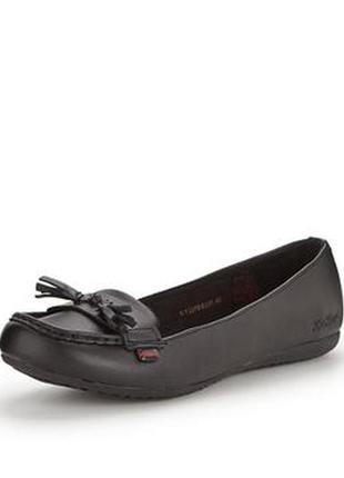 Кожаные лоферы туфли kickers