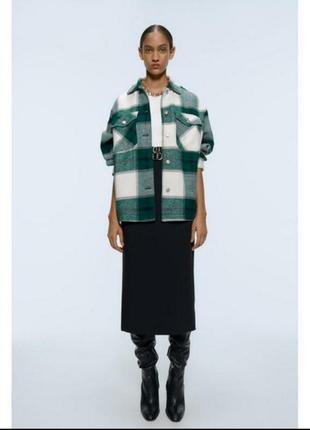 Флисовая рубашка куртка в стиле zara