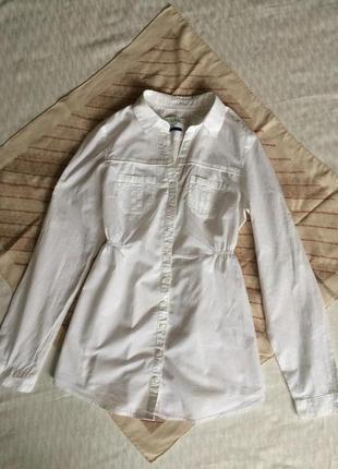 Рубашка белая длинная рубашка туника