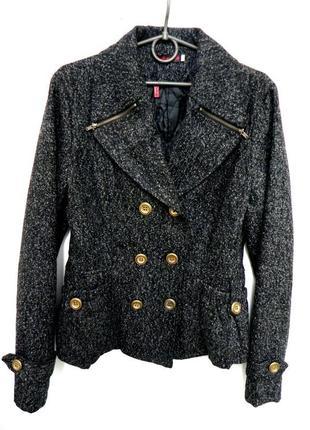 Стильный пиджак жакет куртка л-хл шерстяной