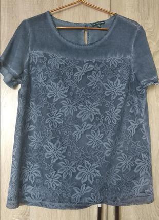 Стильная легкая натуральная блуза блузка футболка размер 48-50