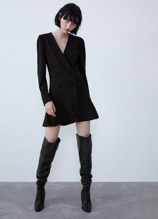 Трендовое новое платье-пиджак / новое платье в пиджачном стиле zara s