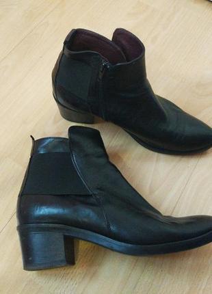Чёрные демисезонные ботинки