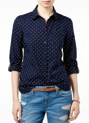 S. oliver шикарная рубашка в горошек - xl - xxl