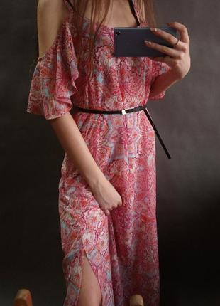 Длинное платье сарафан george на плечи