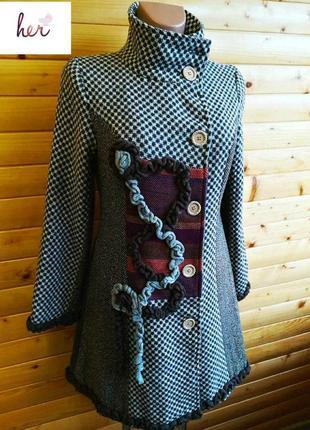 Изящное  приталенное пальто for her, пр-во франция.