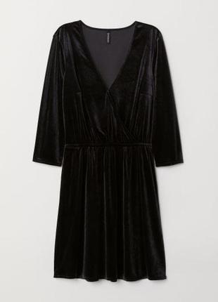 Шикарное вельветовое платье h&m
