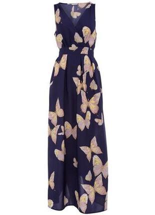 Распродажа! dorothy perkins красивое макси платье с принтом бабочек, р.12-40, наш 46
