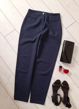 Лаконичные брюки на высочайшей посадке_к низу зауженны..# 430