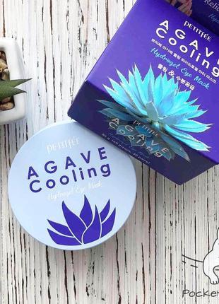 Охлаждающие патчи с агавой petitfee agave cooling hydrogel eye patch