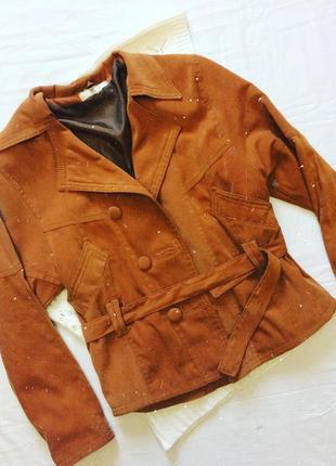 Горчичная ветровка куртка на пуговицах