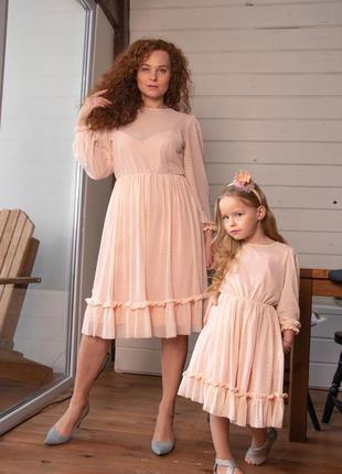 Нарядные платья family look. все размеры