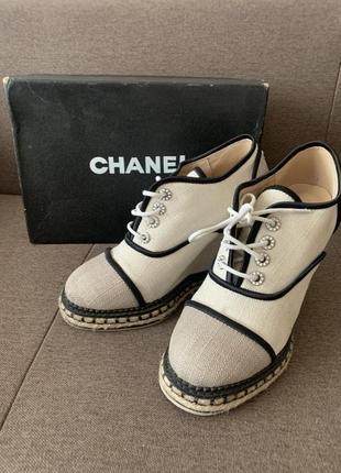 Оригинальные chanel туфли мокасины кеды ботинки