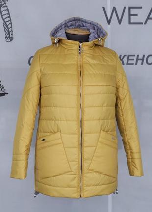 Яркая демисезонная куртка больших размеров 52-62