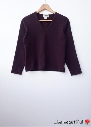 Бордовий свитер базовый бордовый джемпер шерстяной джемпер м