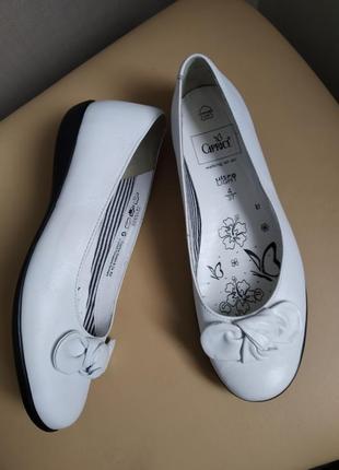 37 37,5 pp. caprice кожаные супер лёгкие туфли балетки мокасины