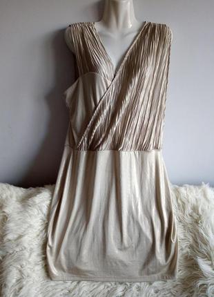Нарядное серебристое платье, paprika, р. 16/xxl