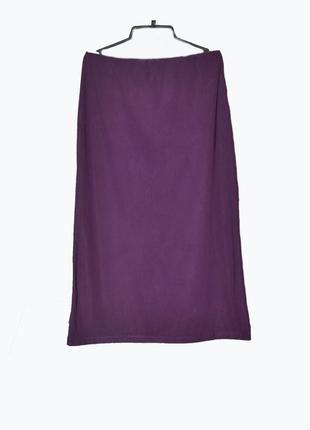 Бархатная сиреневая юбка -макси