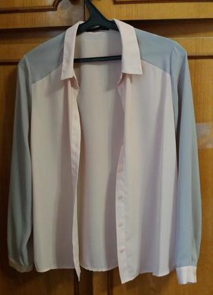 Шикарная пудровая блуза