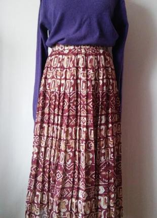 Шифоновая юбка плиссе