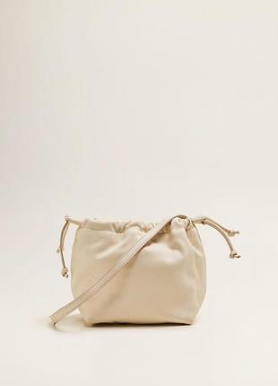 Шкіряна сумка mango, кожаная сумка на длинной ручке, кроссбоди, натуральная кожа