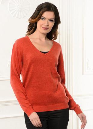 Актуальный джемпер-пуловер  ровного кроя размер м-l1