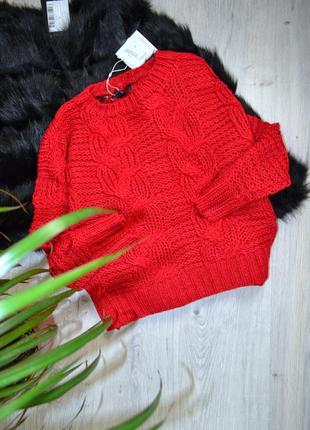 Червоний светр в коси missguided / свитер в косы -
