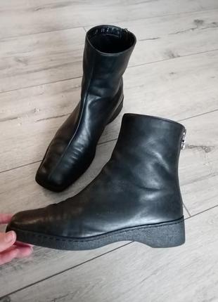 Ботинки кожа, италия