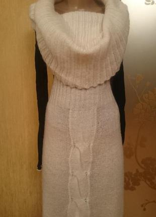 Платье жилетка тёплое с воротом снуд, united colors of benetton оригинал м