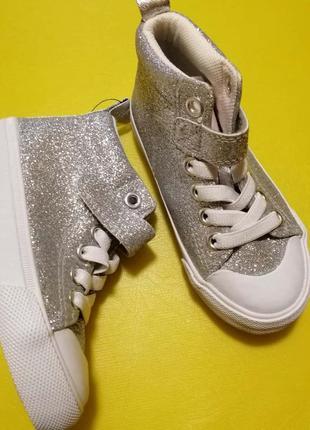 Блестящие хайтопы h&m ботинки
