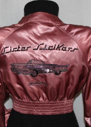 Кукольно-завальный бомбер куртка miss sixty, италия оригинал, s