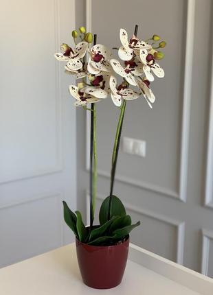 Красивая композиция из искусственных орхидей