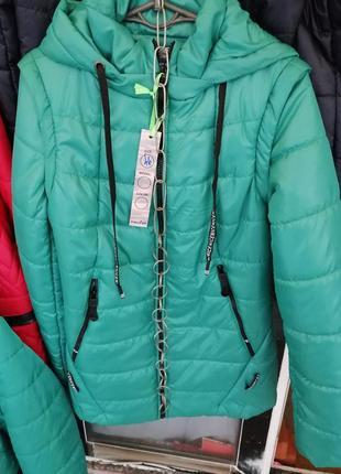 Женская демисезонная куртка-трансформер с 44 по 58 размер