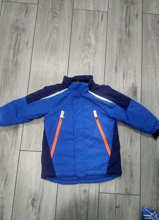 Детская куртка h&m sport 92 см голубая лыжная яркая