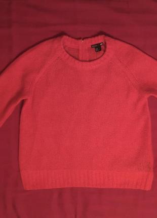 Ярко красная мохеровая кофта h&m