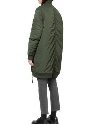 Курточка-бомбер удлиненная цвет  хаки.демисезонная весна-осень. большой размер 52