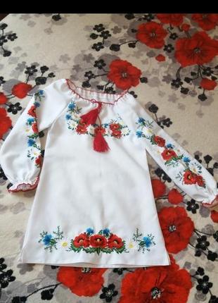 Красивое платье-вышиванка