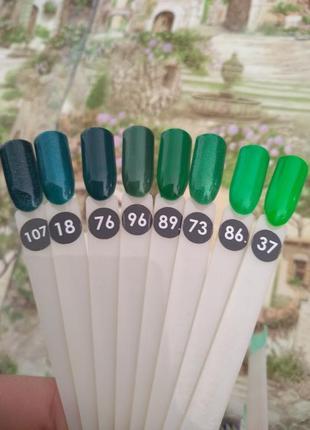 Зеленая палитра, зеленый гель-лак