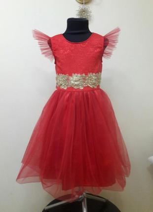 Красивое нарядное платье на девочку 7-10 лет
