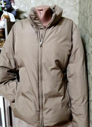 Короткая куртка, бомбер, зефирка, дутая, размер м д