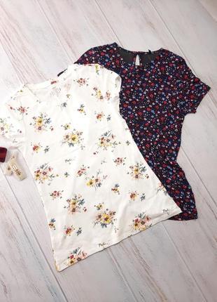 Набор классных цветочных футболочек,футболки