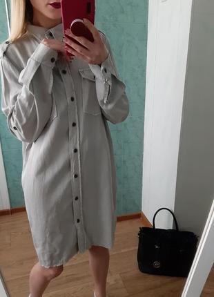 Платье - рубашка миди