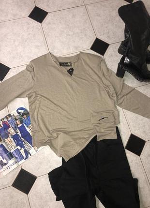 Эксклюзивная кофточка/ свитшот с надплечниками, винтаж, италия 🇮🇹