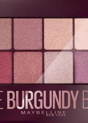 Палетка теней на 12 оттенков maybelline the burgundy bar 12in1